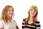 Deux copines teen blondes belles — Photo
