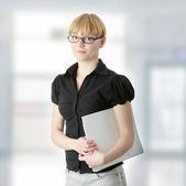 Mujer de negocios joven o estudiante — Foto de Stock
