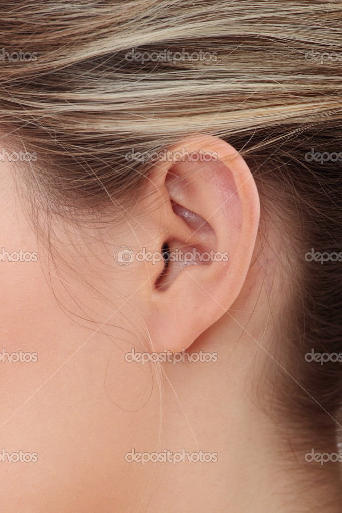 Young caucasian woman ear closeup.  — Stock Photo #5002932