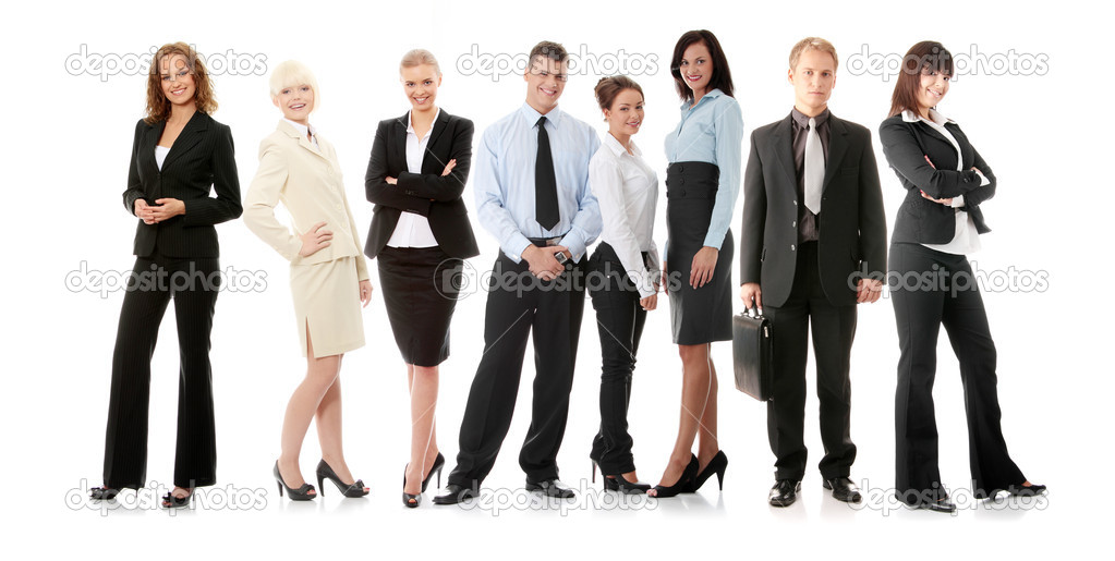 Business team isolated on white background — Stock Photo #5007342