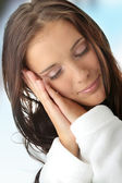 Tired woman — Stock Photo