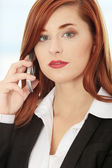 Businesswoman on the phone — ストック写真