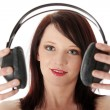Young woman with headphones — Stock Photo #5103526