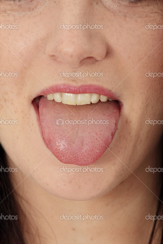 Young cheerful girl showing tongue  — Stock Photo #5103446