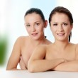 Two beautiful and sexy young women — Stock Photo