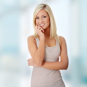 Vacker teen kvinna — Stockfoto