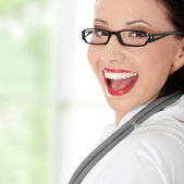 Smiling medical doctor or nurse. — Stock Photo