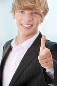 Businessman pointing at you — Foto de Stock
