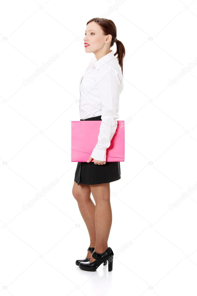 Smiling business woman. Isolated over white background  — Stock Photo #5329146