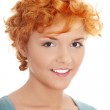 Casual redhead woman portrait — Stock Photo