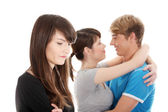 Jealousy girl. — Stock Photo