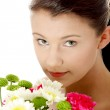 Spring portrait with flowers — Stock Photo #5374463