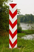 Polish Boundary Post — Stockfoto