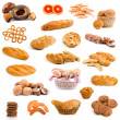 Big collection of bread - Stock Photo