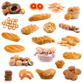 Big collection of bread — Stock Photo