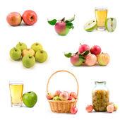Conjunto de manzanas — Foto de Stock