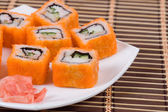 Traditional japanese rolls — Stock Photo