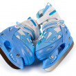 Stock Photo: Blue children's skates