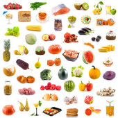 Big collection of food — Stock Photo
