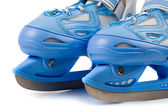 Blue children's skates — Stockfoto