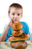 Boy sitting at table — Stock Photo