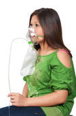 Woman with Oxygen Mask — Stock Photo