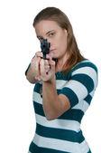 Kobieta detektyw — Zdjęcie stockowe