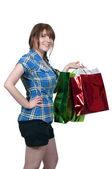 Woman Shopping Bags — Foto Stock