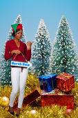 Una elfa de la hermosa mujer negra — Foto de Stock