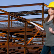 Female Construction Worker — Stock Photo #4432787