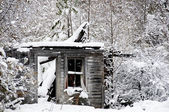 Ghost in Old Building in the Snow — Stock Photo