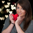 Valentines Day Heart Woman - Stock Photo