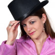 Woman Wearing a Top hat — Stock Photo #4650183