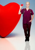 ženské kardiolog — Stock fotografie