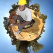 Black Construction Worker — Stock Photo #4720729