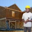 Black Construction Worker — Stock Photo #4721298