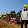 Stock Photo: Female Construction Worker