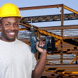 Stock Photo: Construction Worker with Drill