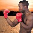 Black Man Boxer — Stock Photo #4811239