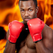 Black Man Boxer — Stock Photo