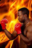 Black Man Boxer — Stock Photo