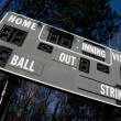 Baseball Scoreboard — Stock Photo #5369624