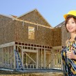 Asian Female Construction Worker - Stock Photo