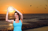 Pôr do sol do oceano — Foto Stock