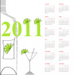Template for calendar 2011 — Stock Vector