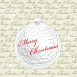 Royalty-Free Stock Vector Image: Retro stylized christmas card