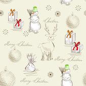 Retro stylized christmas card — Stock Vector