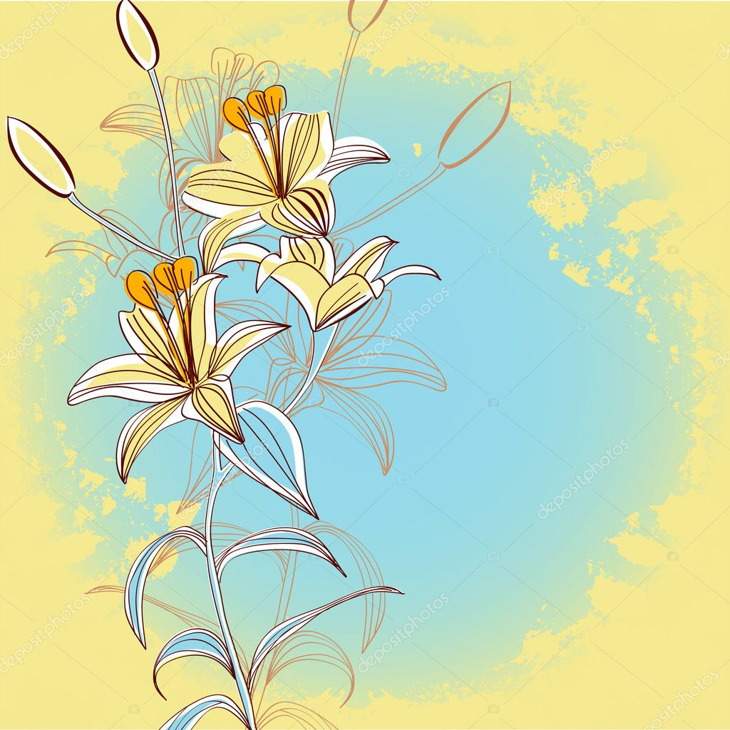 Retro stylized background with flowers — Stock Vector #4258611