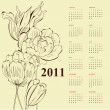 Floral calendar for 2011 — Stock Vector #4392994