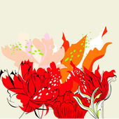 Red flowers — Stock Vector